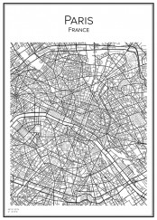 Stadskarta över Paris