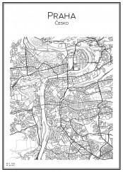 Stadskarta över Prag
