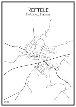 Stadskarta över Reftele