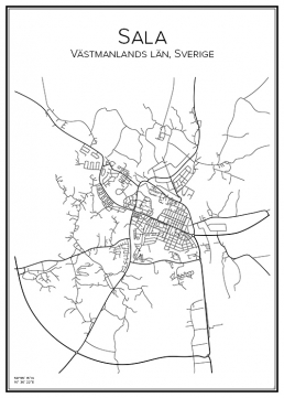 Stadskarta över Sala