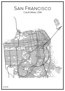 Stadskarta över San Francisco