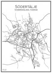 Stadskarta över Södertälje