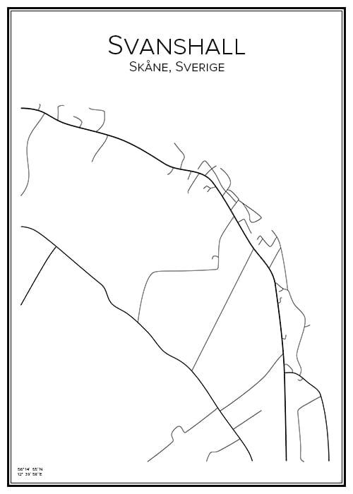 Stadskarta över Svanshall