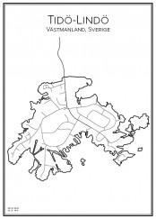 Stadskarta över Tidö-Lindö