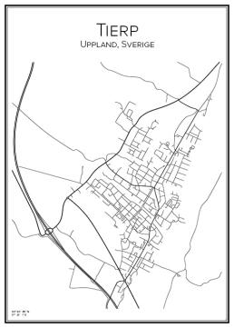 Stadskarta över Tierp
