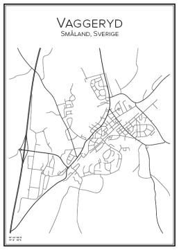 Stadskarta över Vaggeryd