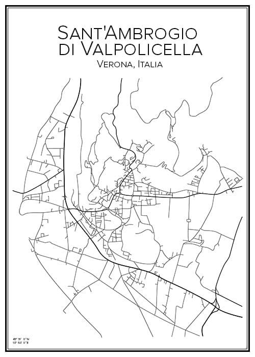 Stadskarta över Valpolicella