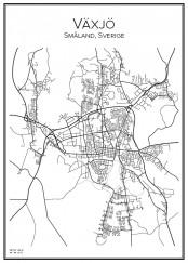 Stadskarta över Växjö