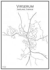 Stadskarta över Virserum