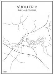 Stadskarta över Vuollerim