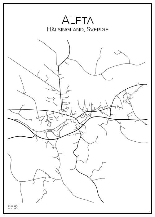 Stadskarta över Alfta