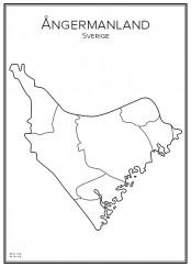 Stadskarta över Ångermanland