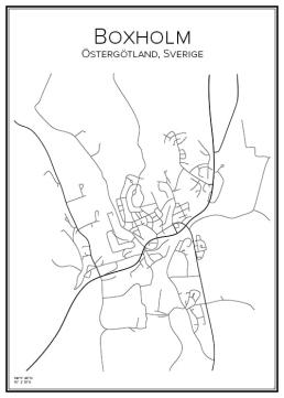 Stadskarta över Boxholm