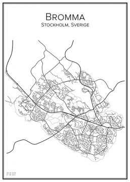 Stadskarta över Bromma