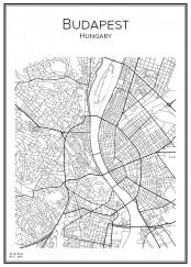 Stadskarta över Budapest