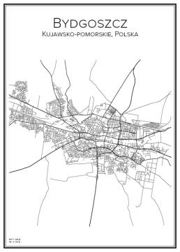 Stadskarta över Bydgoszcz