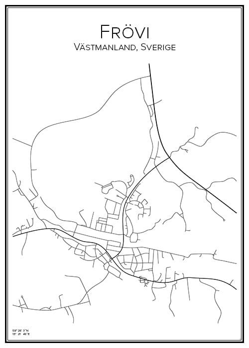 Stadskarta över Frövi