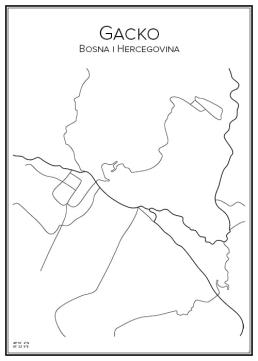 Stadskarta över Gacko