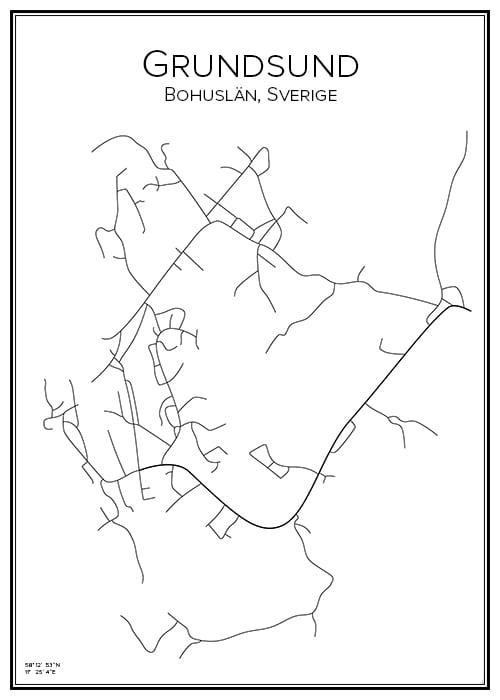 Stadskarta över Grundsund