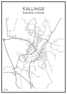 Stadskarta över Kallinge