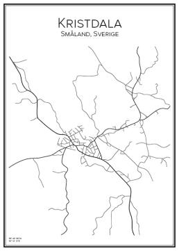 Stadskarta över Kristdala