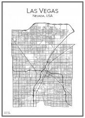 Stadskarta över Las Vegas