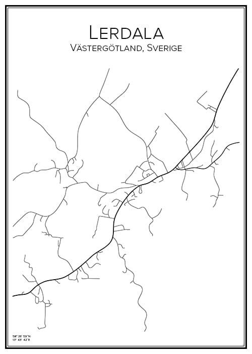 Stadskarta över Lerdala