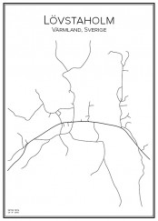 Stadskarta över Lövstaholm