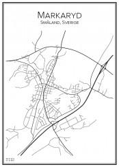 Stadskarta över Markaryd