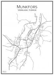 Stadskarta över Munkfors