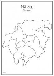 Stadskarta över Närke