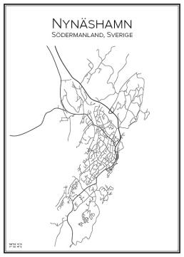 Stadskarta över Nynäshamn
