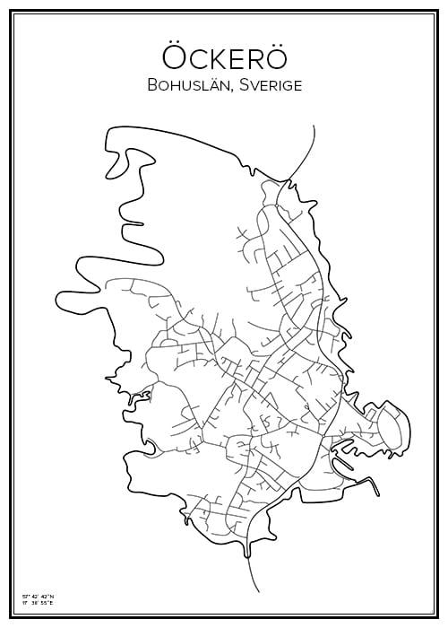 Stadskarta över Öckerö