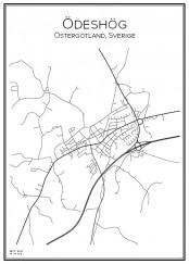 Stadskarta över Ödeshög