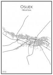 Stadskarta över Osijek