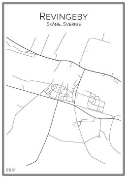 Stadskarta över Revingeby