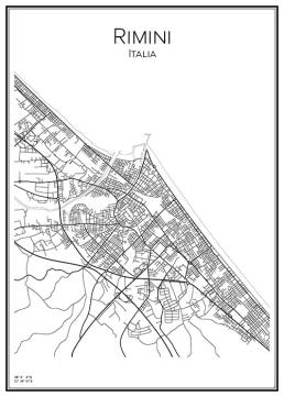 Stadskarta över Rimini