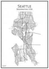Stadskarta över Seattle
