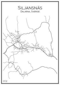 Stadskarta över Siljansnäs