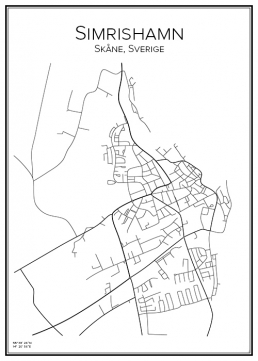 Stadskarta över Simrishamn