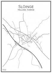 Stadskarta över Slöinge