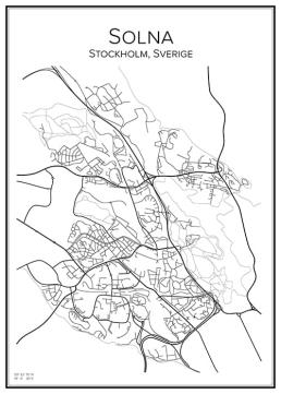 Stadskarta över Solna