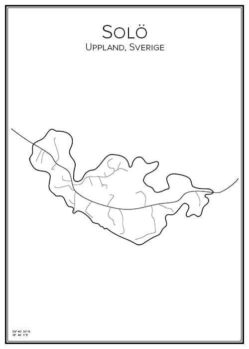 Stadskarta över Solö