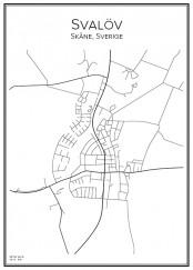 Stadskarta över Svalöv