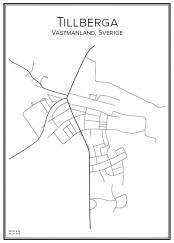 Stadskarta över Tillberga
