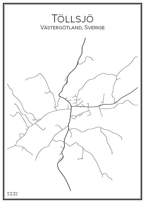 Stadskarta över Töllsjö