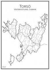 Stadskarta över Torsö