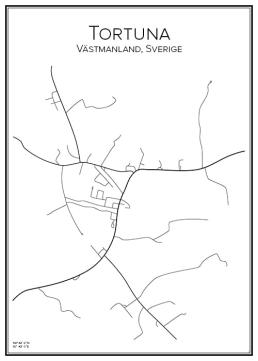 Stadskarta över Tortuna