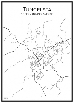 Stadskarta över Tungelsta