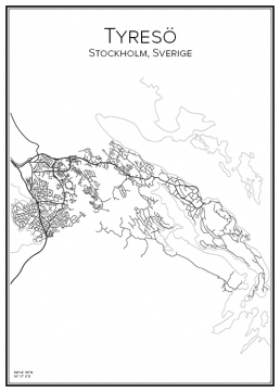 Stadskarta över Tyresö